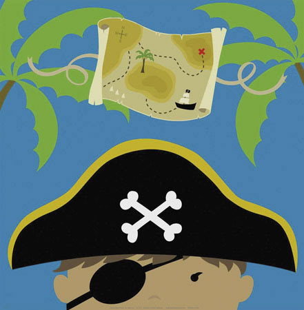 71069 Peek-A-Boo Pirate 12 x 12